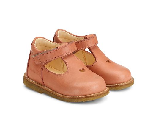 Light Coral Heart Velcro Girls Shoes - Angulus - LAZY FRANCIS - Shop in store at 406 Kings Road, Chelsea, London or shop online at www.lazyfrancis.com