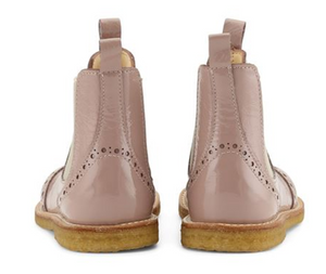 Rose Lacquer Girls Chelsea Boots- Angulus