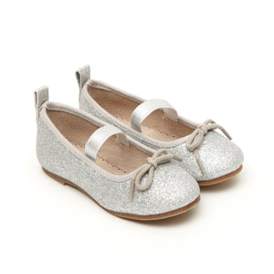 Angel's Face Silver Toddler Girls Ballet Pump Shoes - LAZY FRANCIS - Shop in store at 406 Kings Road, Chelsea, London or shop online at www.lazyfrancis.com