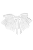 Marie Antoinette Tulle Pelerine in White - LAZY FRANCIS - Shop in store at 406 Kings Road, Chelsea, London or shop online at www.lazyfrancis.com