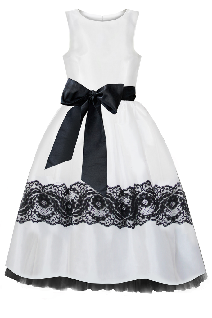Charlotte Woman's Dress in White Taffeta - LAZY FRANCIS - Shop in store at 406 Kings Road, Chelsea, London or shop online at www.lazyfrancis.com