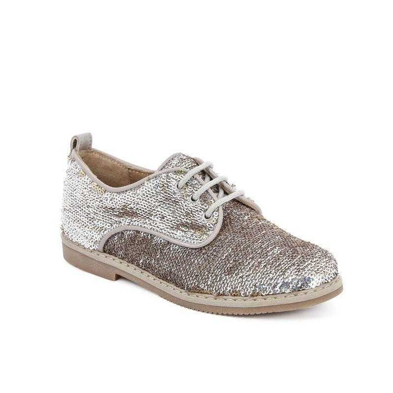 Derby City Sequin Girls Shoes - Pom D'Api - LAZY FRANCIS - Shop in store at 406 Kings Road, Chelsea, London or shop online at www.lazyfrancis.com