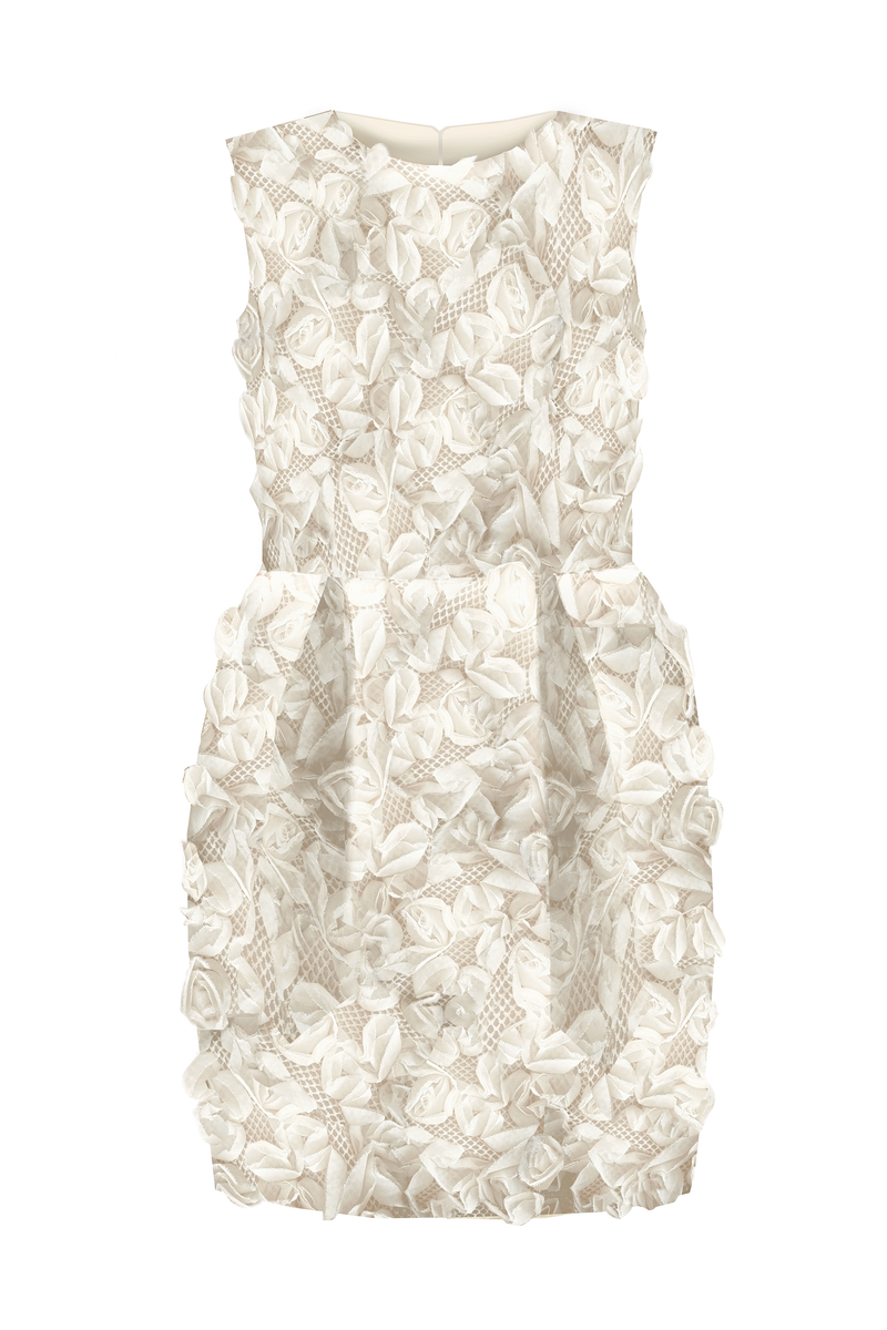 Limited Edition Flower Girl's Jacquard & Denim Santorini Pencil Dress - LAZY FRANCIS - Shop in store at 406 Kings Road, Chelsea, London or shop online at www.lazyfrancis.com