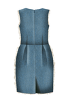 Girl's Jacquard & Denim Santorini Pencil Dress - LAZY FRANCIS - Shop in store at 406 Kings Road, Chelsea, London or shop online at www.lazyfrancis.com