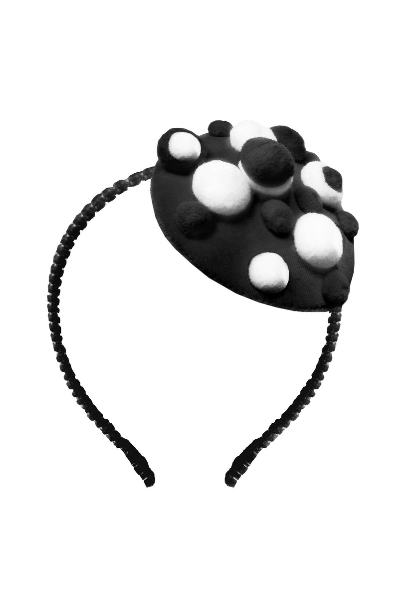 Black Bobble Headband - LAZY FRANCIS - Shop in store at 406 Kings Road, Chelsea, London or shop online at www.lazyfrancis.com