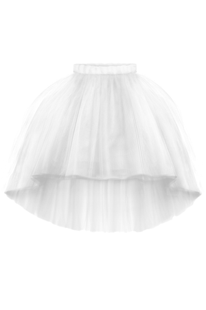 Félicie Off White High-Low Girls Tutu Skirt - LAZY FRANCIS - Shop in store at 406 Kings Road, Chelsea, London or shop online at www.lazyfrancis.com