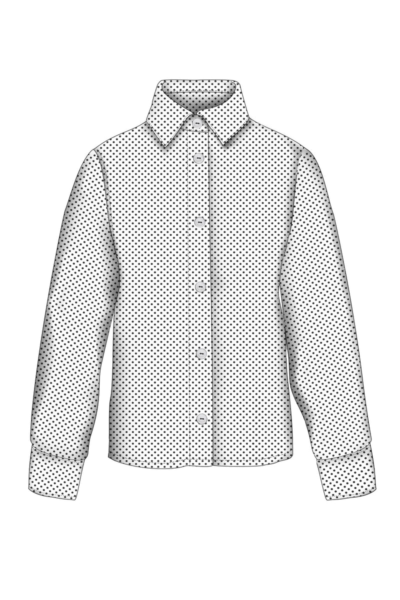 White Polka Dot Boys Shirt - LAZY FRANCIS - Shop in store at 406 Kings Road, Chelsea, London or shop online at www.lazyfrancis.com