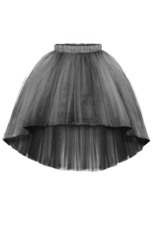Félicie Ash Grey High-Low Girls Tutu Skirt - LAZY FRANCIS - Shop in store at 406 Kings Road, Chelsea, London or shop online at www.lazyfrancis.com