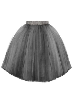 Ash Grey Félicie High-Low Girls Tutu Skirt - LAZY FRANCIS - Shop in store at 406 Kings Road, Chelsea, London or shop online at www.lazyfrancis.com