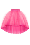 Félicie High-Low Girls Tutu Skirt in Fuchsia - LAZY FRANCIS - Shop in store at 406 Kings Road, Chelsea, London or shop online at www.lazyfrancis.com