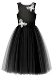 Carrie Butterfly Woman's Tutu Dress in Black - LAZY FRANCIS - Shop in store at 406 Kings Road, Chelsea, London or shop online at www.lazyfrancis.com