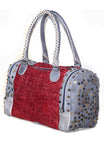 Women Washed Vintage Studded Duffle Bag