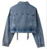 Spring And Summer  Street Fashion Women Loose  Bolero Light Blue Denim Jacket