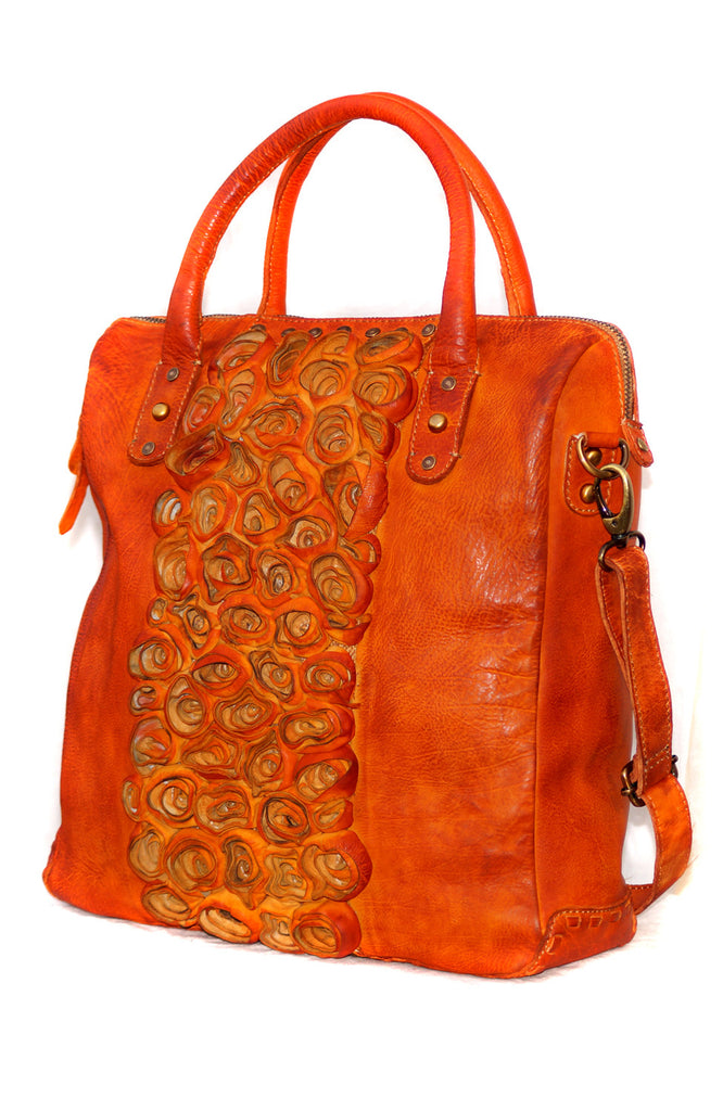 Rose Leather Flower  HandCrafted  Hobo Bag