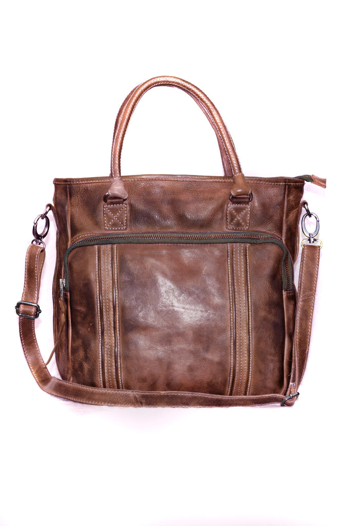Hand Crafted Hand Colored /Washed Real Leather Mens Hobo Bag