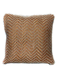 Laura  Woven  Leather cushion cover