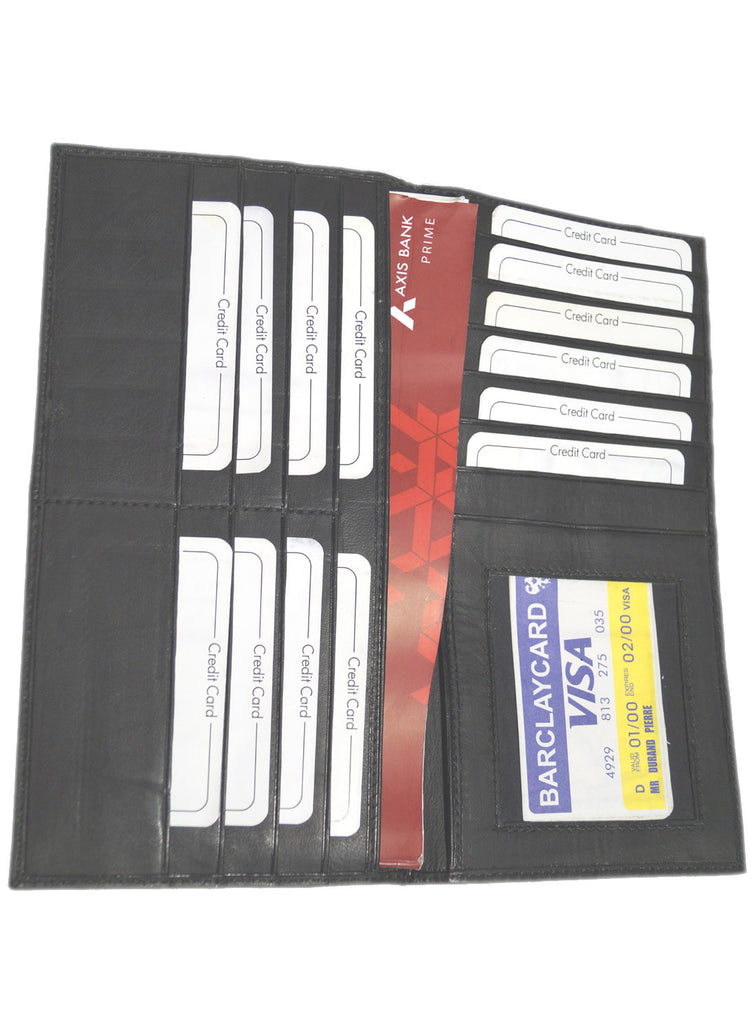 Basic Leather Cheque Book Holder , Card Holder/Passport Holder/Cheque Book Holder - CrabRocks, LeatherfashionOnline  - 5