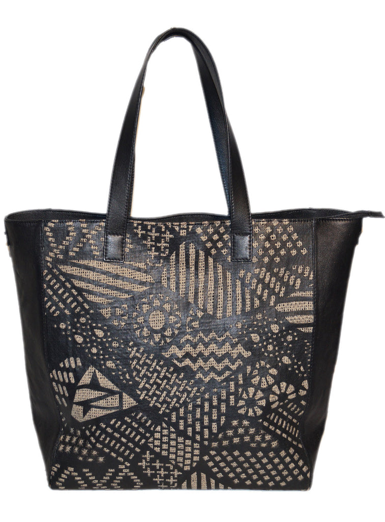 Women Leather Laser cut Shopper Bag , Ladies Bag - CrabRocks, LeatherfashionOnline  - 1
