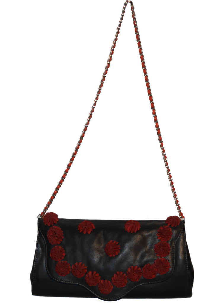 Julie Flower Across body with designer Flower Leather Bag