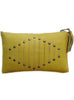 Women Yellow Clutch Bag with Rivets and Long Tassels