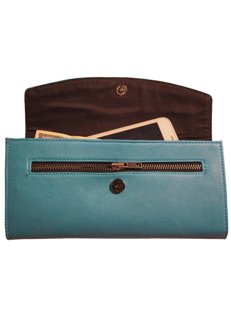 Women Leather Casual Classic Clutch Bag , Clutch Bag - CrabRocks, LeatherfashionOnline  - 6
