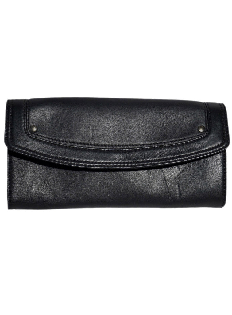 Women Leather Casual Classic Clutch Bag One Size / Black / Lamb Leather, Clutch Bag - CrabRocks, LeatherfashionOnline  - 2