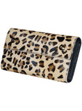 Leather Ladies Hair On Leopard Print Clutch Bag , Ladies Clutch Bags - CrabRocks, LeatherfashionOnline  - 2