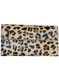 Leather Ladies Hair On Leopard Print Clutch Bag , Ladies Clutch Bags - CrabRocks, LeatherfashionOnline  - 1