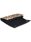 Leather Ladies Hair On Leopard Print Clutch Bag , Ladies Clutch Bags - CrabRocks, LeatherfashionOnline  - 4