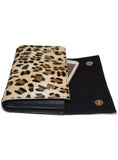 Leather Ladies Hair On Leopard Print Clutch Bag , Ladies Clutch Bags - CrabRocks, LeatherfashionOnline  - 5