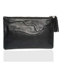 Women Clutch Bag with Rivets and Long Tassels , Clutch Bag - CrabRocks, LeatherfashionOnline  - 2