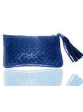 Leather Ladies Woven Clutch Bag , Ladies Clutch Bags - CrabRocks, LeatherfashionOnline  - 2