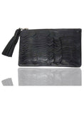 Leather Ladies Python Scales Clutch Bag , Ladies Clutch Bags - CrabRocks, LeatherfashionOnline  - 1