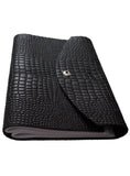 Croco Embossed Leather Diary/ Journal- Long Book 11