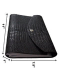 Croco Embossed Leather Diary/ Journal- Long Book , Accessories - CrabRocks, LeatherfashionOnline  - 4