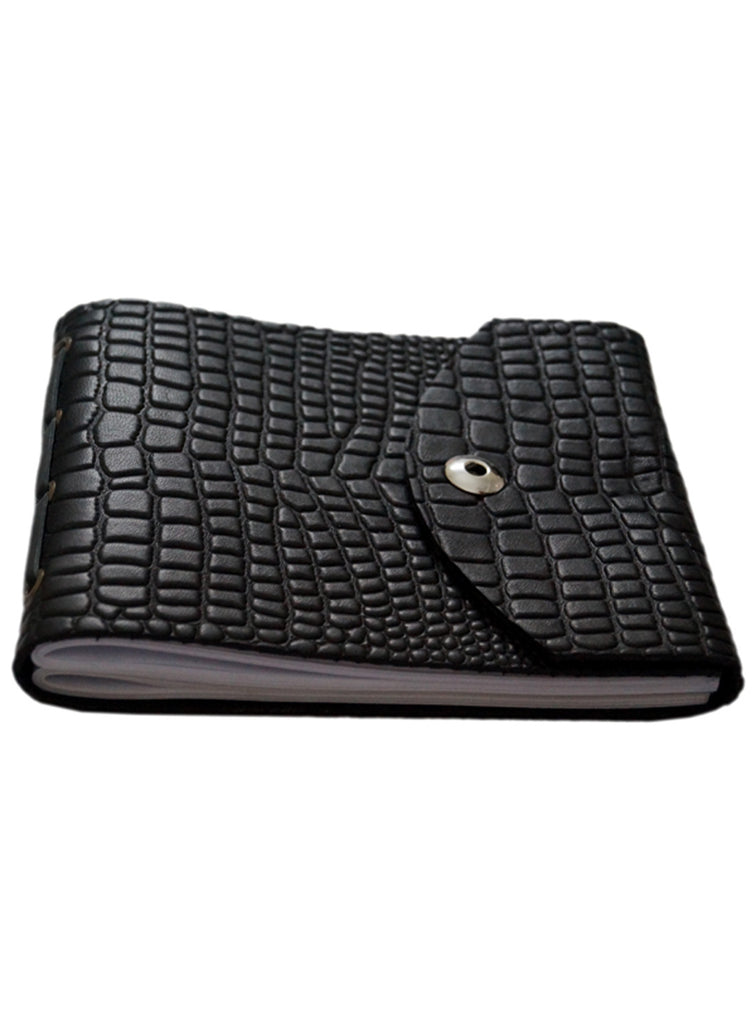 Leather Croco Embossed Personal Journal/ Diary , Accessories - CrabRocks, LeatherfashionOnline  - 1