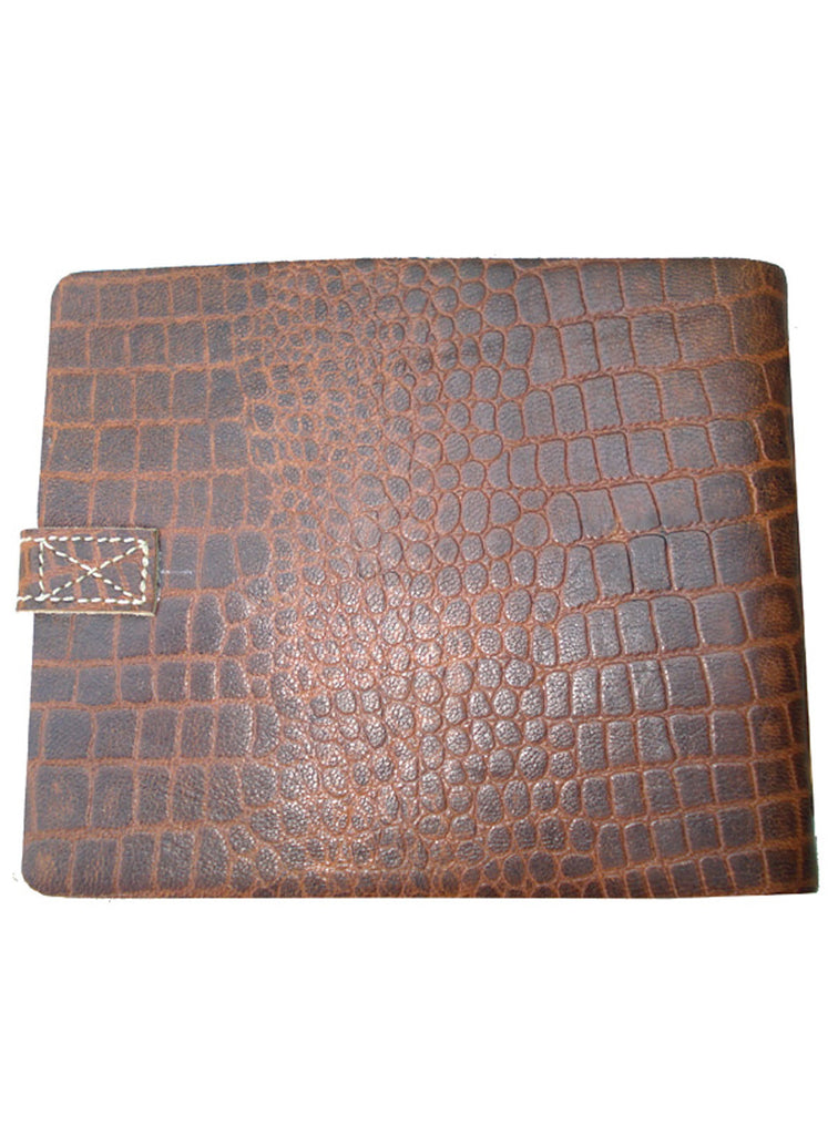Leather Vintage Croco Look short Personal Journal/ Diary , Accessories - CrabRocks, LeatherfashionOnline  - 2