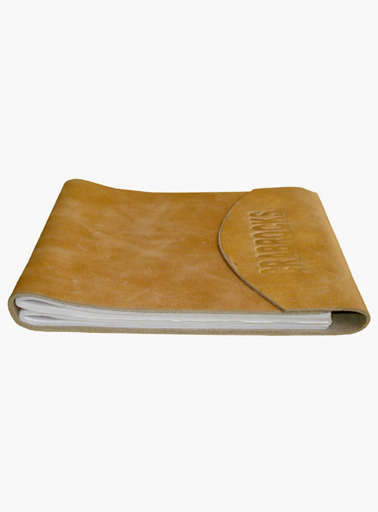 Leather Crunch Short Personal Journal/ Diary Anitque Silver / 6.75 Inches x 5.5 Inches / Short Ganesha Journal, Accessories - CrabRocks, LeatherfashionOnline  - 1