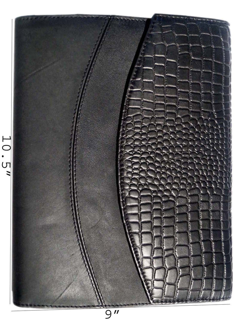 Designer Big Croco Embossed Leather Diary , Accessories - CrabRocks, LeatherfashionOnline  - 2