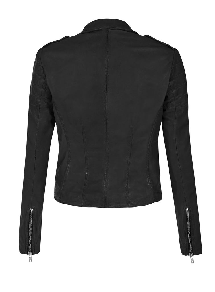 Leather Washed Vintage Women Jacket , Women Jacket - CrabRocks, LeatherfashionOnline  - 2