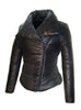 Leather Short Puffer Down Jacket- Hot Seller Women Puffer Coat Jacket
