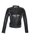 Leather HandMade Crochet Bonded Short Women Jacket