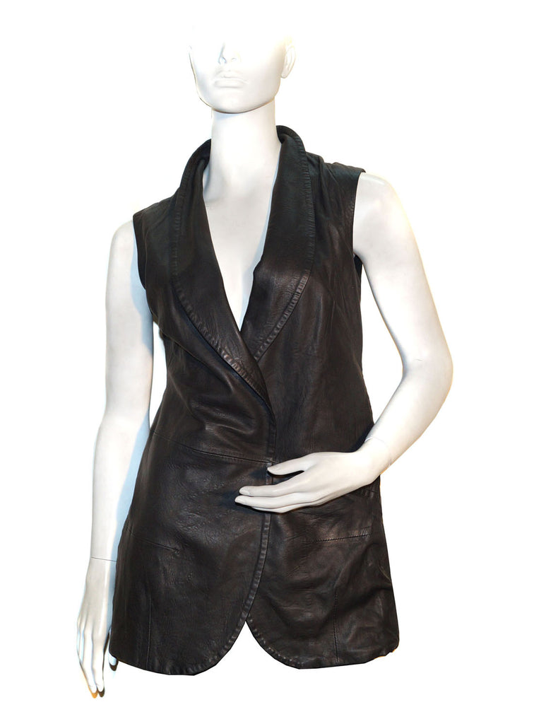 Casual Leather Women Gilet
