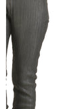 Designer Women Leather Strip Leggings , Ladies leather Pant/Leggings - CrabRocks, LeatherfashionOnline  - 3