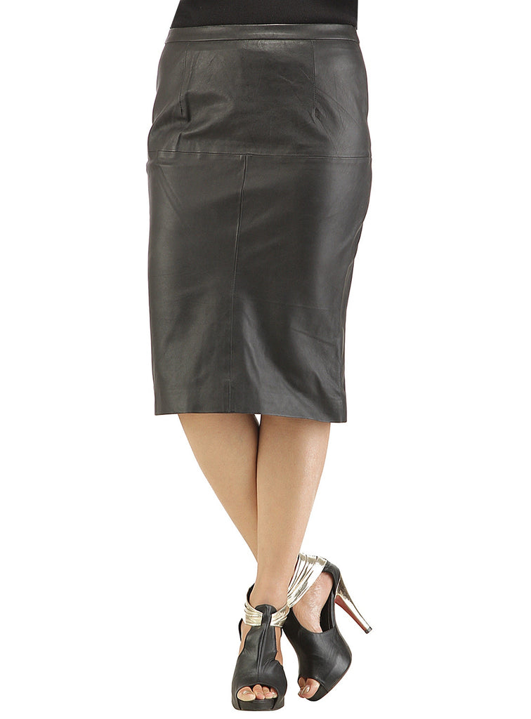 Ladies Formal Long Skirt- Best Seller workwear S / Leather / Black, Women Leather Skirt - CrabRocks, LeatherfashionOnline  - 1