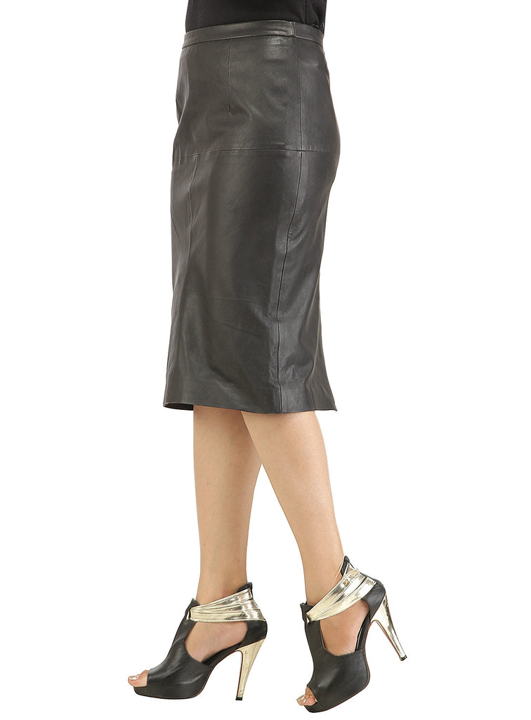 Ladies Formal Long Skirt- Best Seller workwear , Women Leather Skirt - CrabRocks, LeatherfashionOnline  - 2