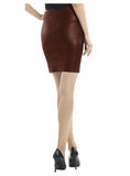 Leather Women Mini Fitted Skirt-- Hot Seller , Women Leather Skirt - CrabRocks, LeatherfashionOnline  - 2