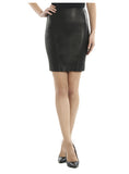 Leather Women Mini Fitted Skirt-- Hot Seller S / Leather / Black, Women Leather Skirt - CrabRocks, LeatherfashionOnline  - 3