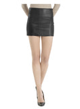 Leather Women Micro Mini Skirt , Women Leather Skirt - CrabRocks, LeatherfashionOnline  - 1