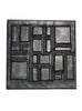 Leather Designer Cubic Decorative Wall Tiles Black, Leather Tiles - CrabRocks, LeatherfashionOnline  - 1
